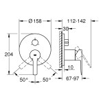 Grohe Lineare Single-Lever Mixer Trim with 3-Way Diverter 24095