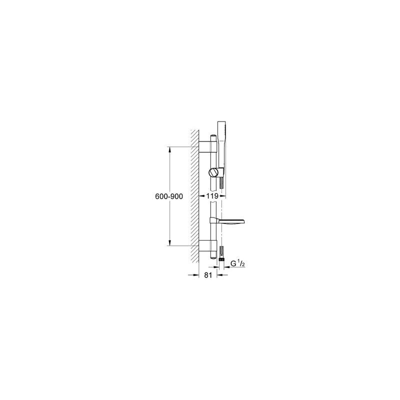 Grohe Euphoria Stick Cosmopolitan Shower Set 27368