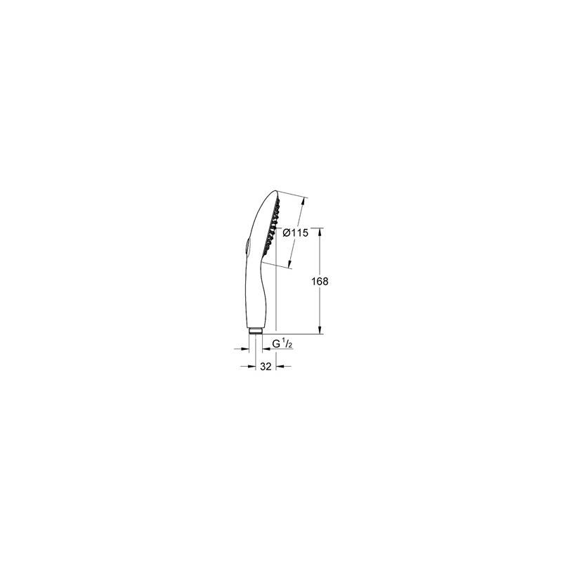 Grohe Power&Soul 115 Hand Shower 2 Sprays 27671