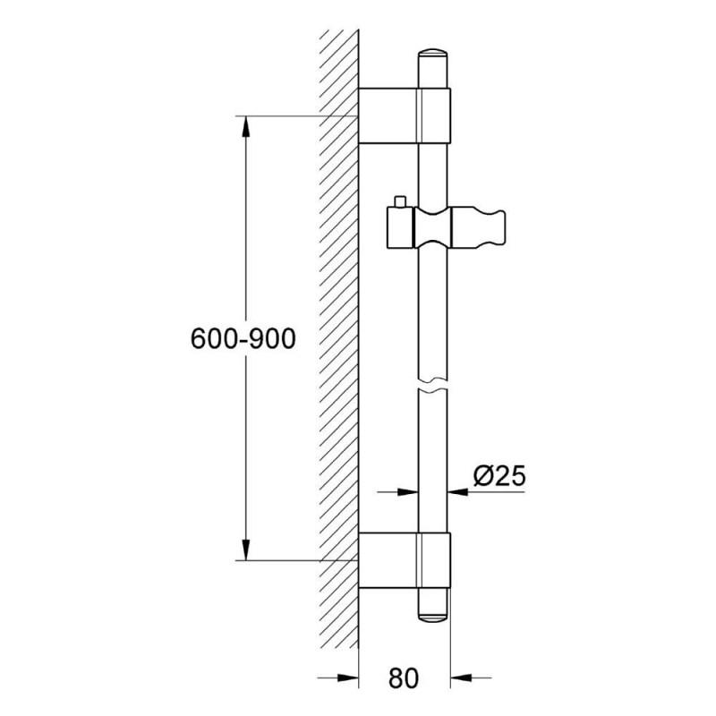Grohe Power&Soul Shower Rail 900mm 27785
