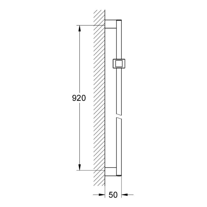 Grohe Euphoria Cube Shower Rail 900mm 27841