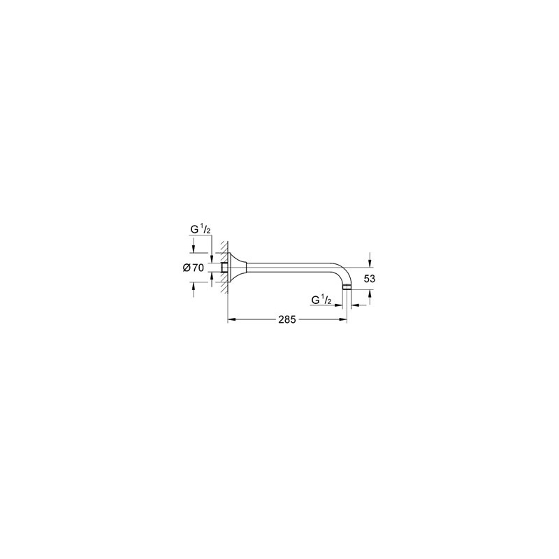 Grohe Rainshower Grandera Shower Arm 285mm 27986 Chrome/Gold