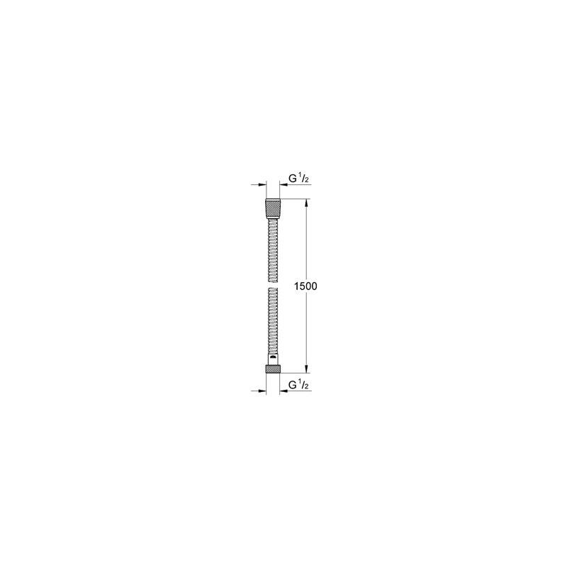 Grohe Ondus Metal Hose 1500mm 28143