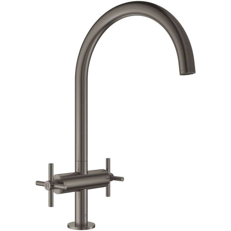 Grohe Atrio Two Handle Sink Mixer 30362 Brushed Hard Graphite