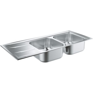 Grohe K400 Stainless Steel Sink with Drainer 2 Bowls 31587