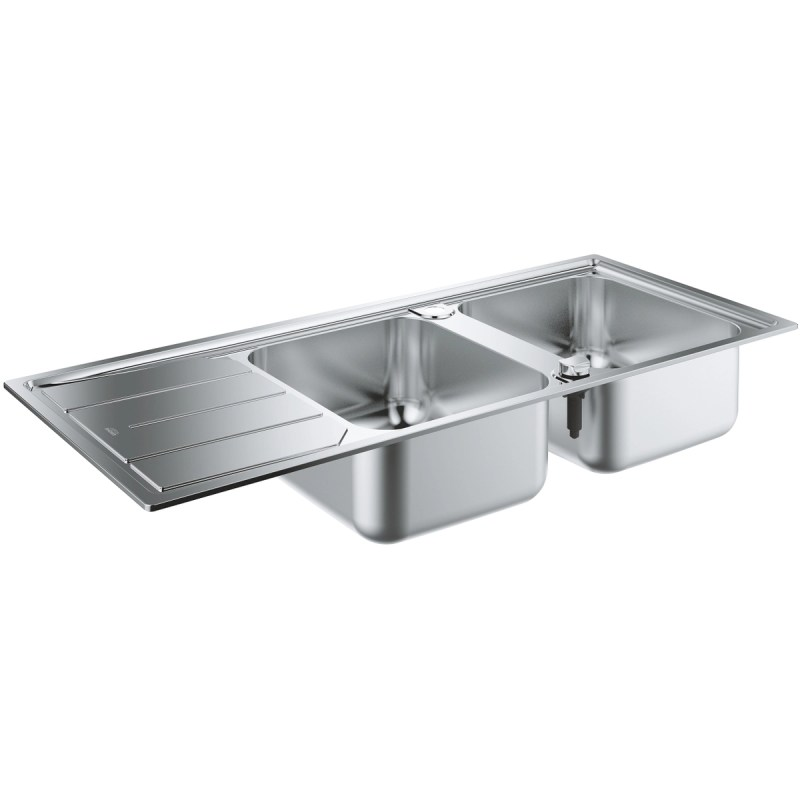 Grohe K500 Stainless Steel Sink with Drainer 2 Bowls 31588
