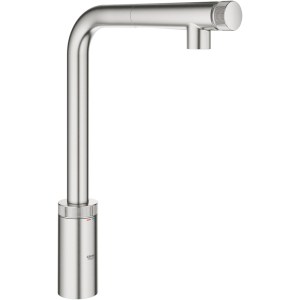 Grohe Minta SmartControl Sink Mixer with Pullout 31613 Supersteel