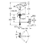 "Grohe Atrio Single-Lever Mono Basin Mixer 1/2"" Large 32129"