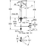 "Grohe Atrio Mono Basin Mixer Tap 1/2"" X-Large 32130"