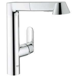 """Grohe K7 Mono Sink Mixer with Pull Out 1/2"""" 32176 Chrome"""