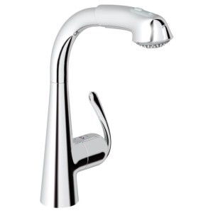 """Grohe Zedra Sink Mixer with Pull Out 1/2"""" 32553 Chrome"""
