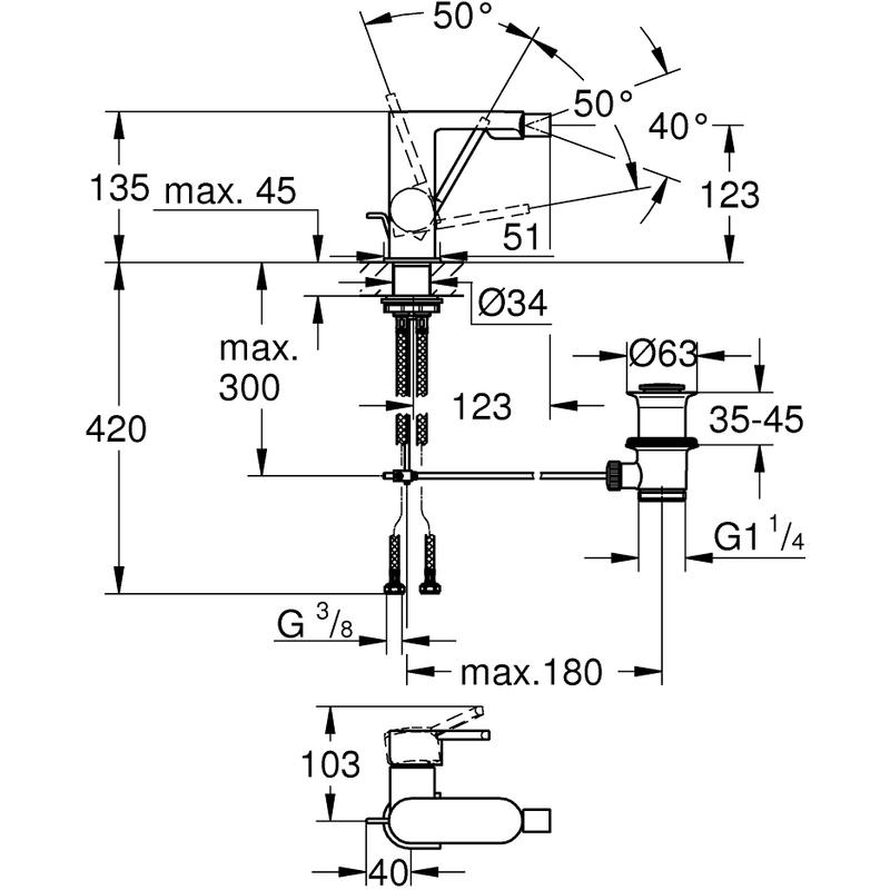 Grohe Plus Bidet Mixer 33241