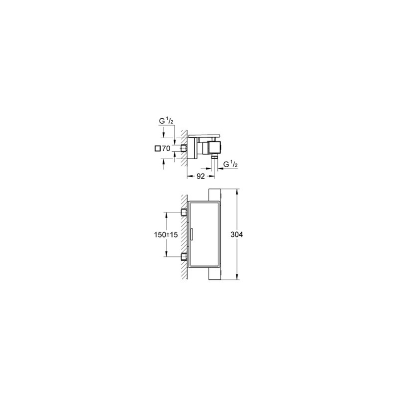 """Grohe Grohtherm Cube Thermostatic Shower Mixer 1/2"""" 34491"""