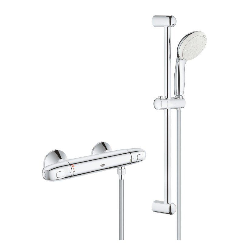 Grohe Grohtherm 1000 Thermostatic Shower Mixer with Kit 34557