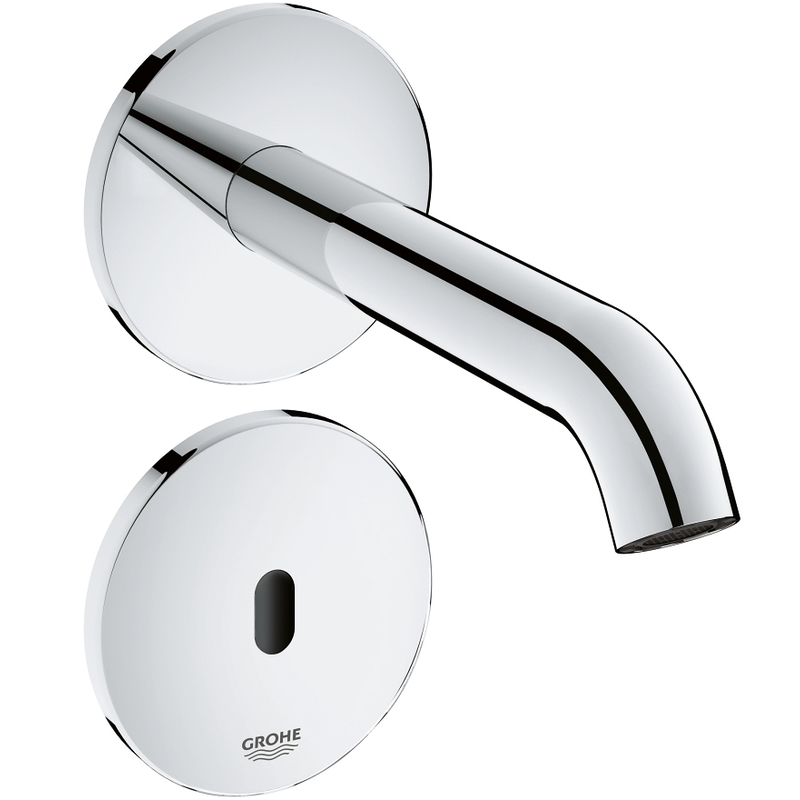 Grohe Essence E Infra-Red Electronic Wall Basin Tap 36447 Chrome