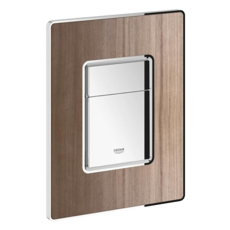Grohe Skate Cosmopolitan WC Wall Plate 38849 Walnut/Chrome