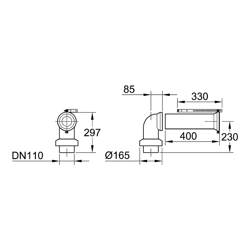 Grohe WC Connection Outlet 39454