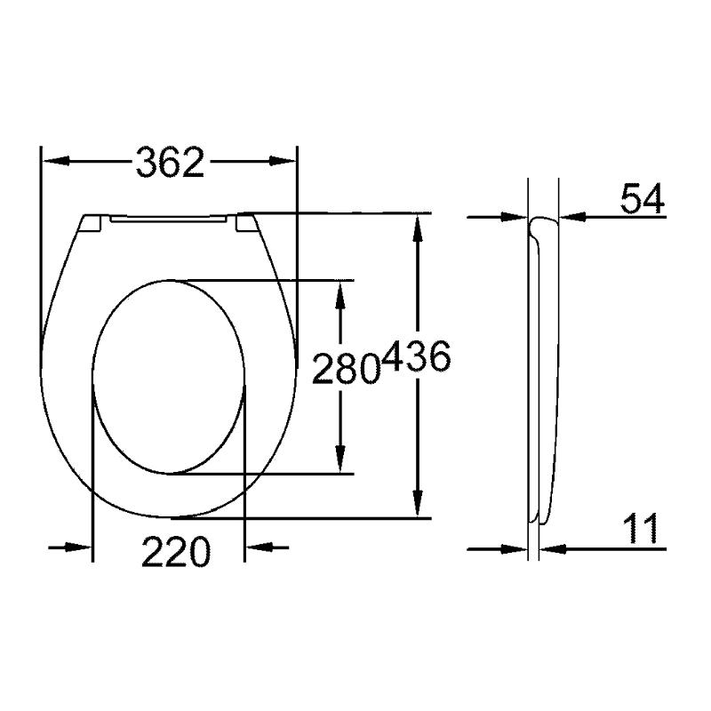 Grohe Bau Standard Toilet Seat 39492