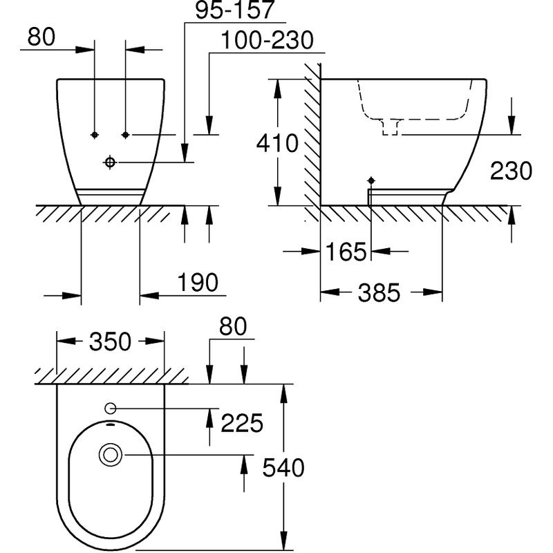 Grohe Essence Floor Standing Bidet 39575 PureGuard
