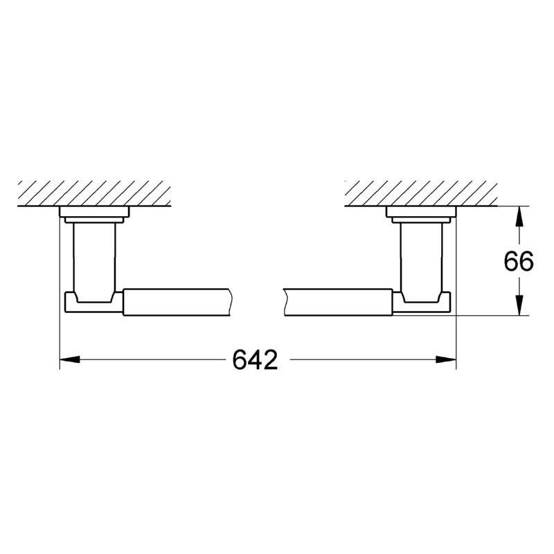 Grohe Atrio Towel Rail 600mm 40309
