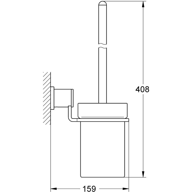 Grohe Allure Toilet Brush Set 40340