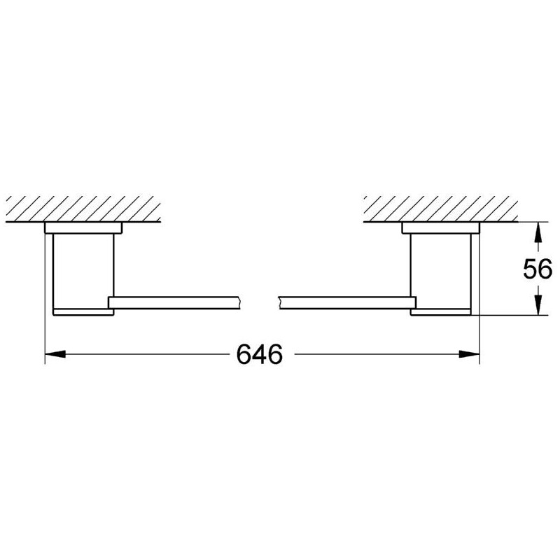Grohe Allure Towel Rail 600mm 40341