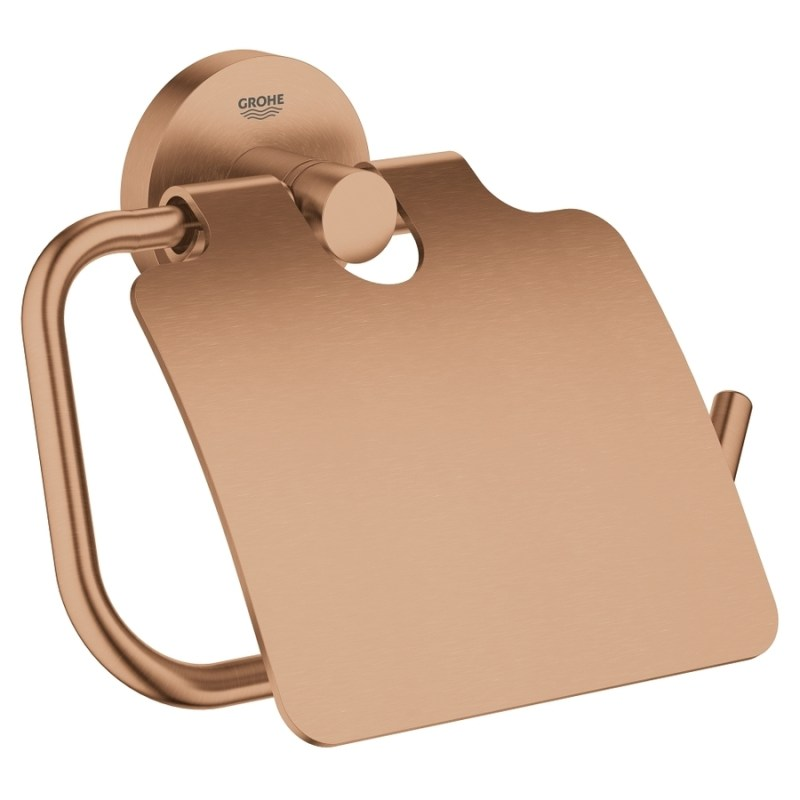 Grohe Essentials Toilet Roll Holder 40367 Brushed Warm Sunset