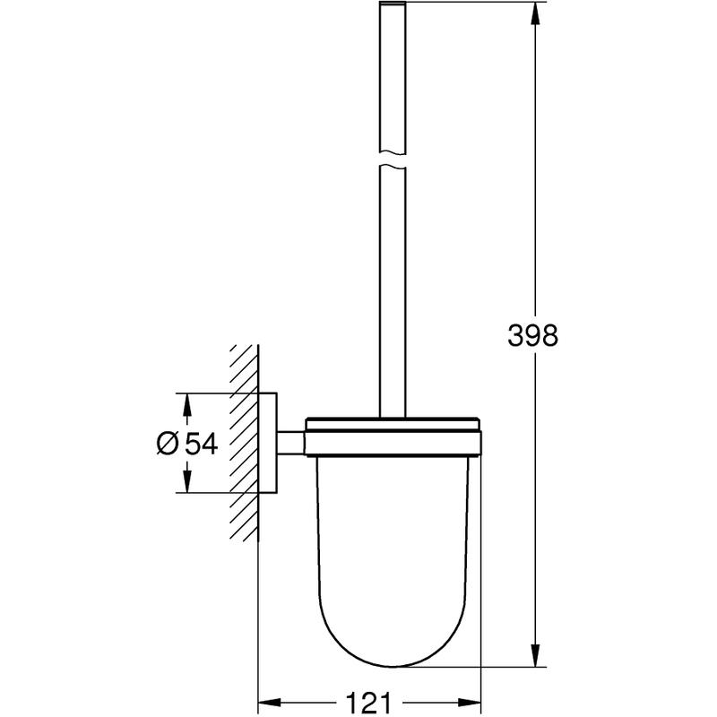 Grohe Essentials Toilet Brush Set 40374 Brushed Hard Graphite