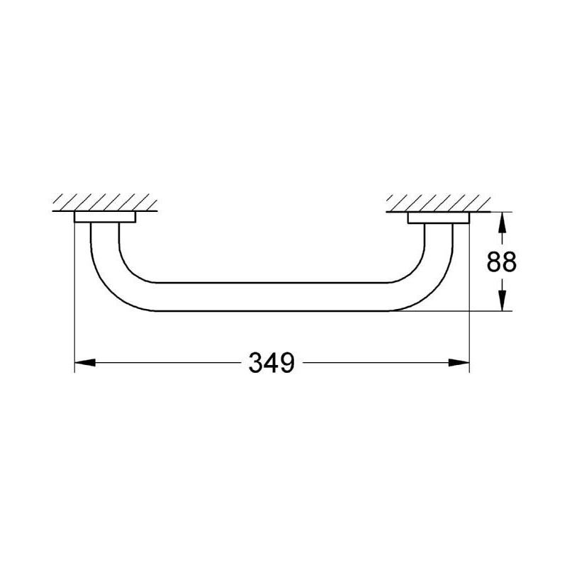 Grohe Essentials Grip Bar 40421 Brushed Cool Sunrise