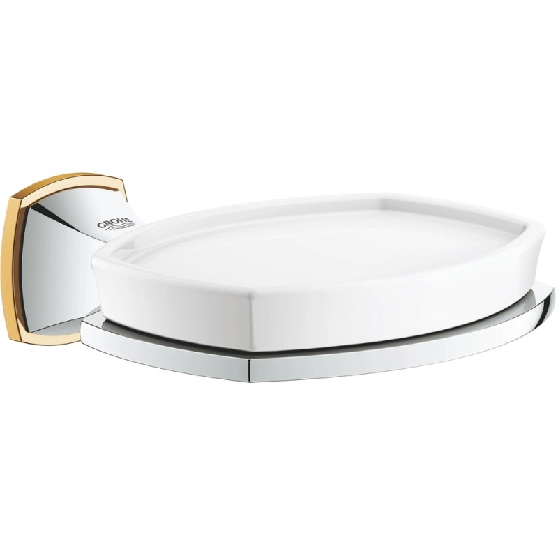 Grohe Grandera Soap Dish with Holder 40628 Chrome/Gold