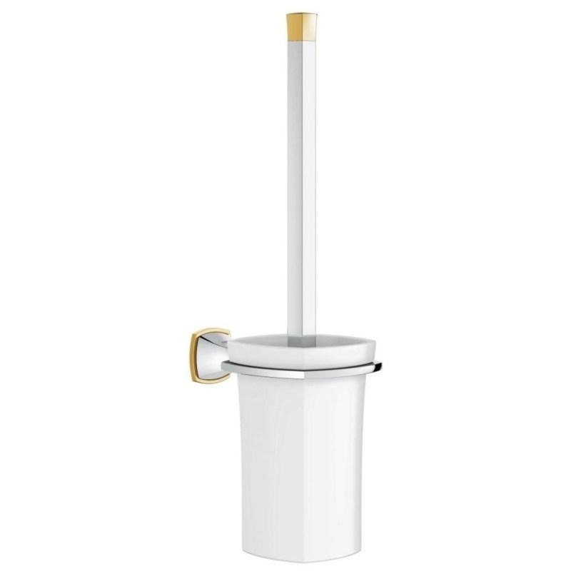 Grohe Grandera Toilet Brush Set 40632 Chrome/Gold