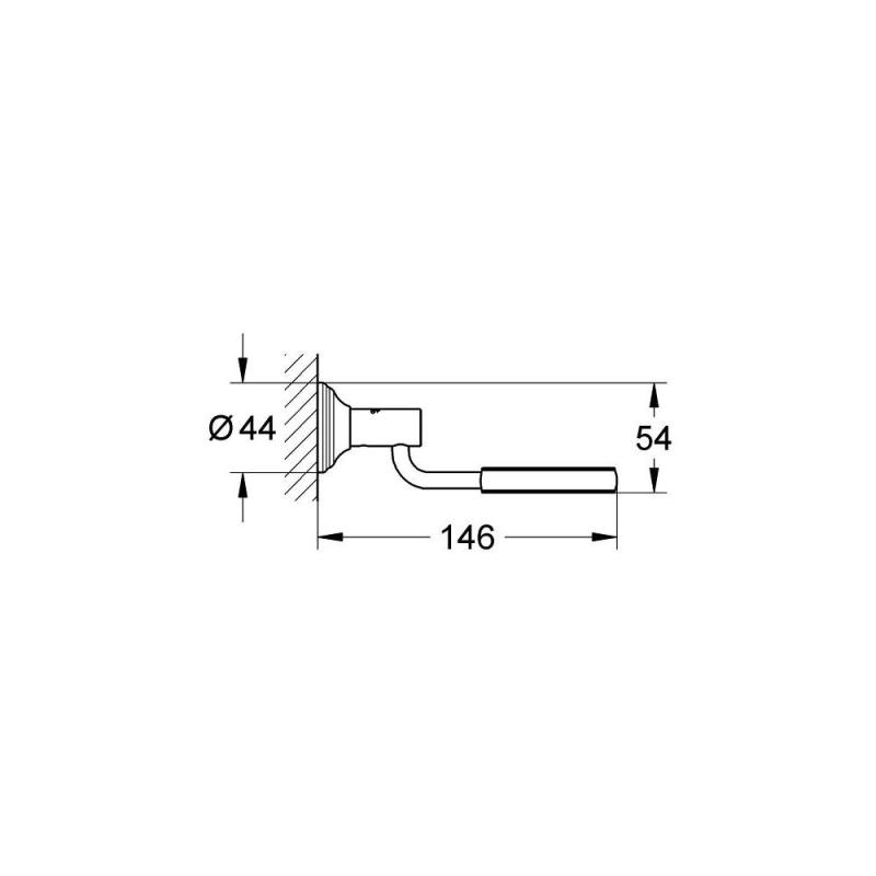 Grohe Essentials Authentic Holder 40652