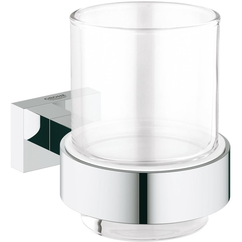 Grohe Essentials Cube Crystal Glass with Holder 40755