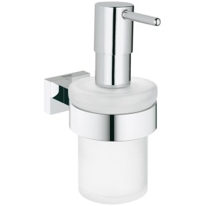Grohe Essentials Cube Soap Dispenser with Holder 40756