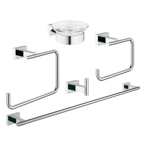 Grohe Essentials Cube Bathroom Accessories Set 5-in-1 40758