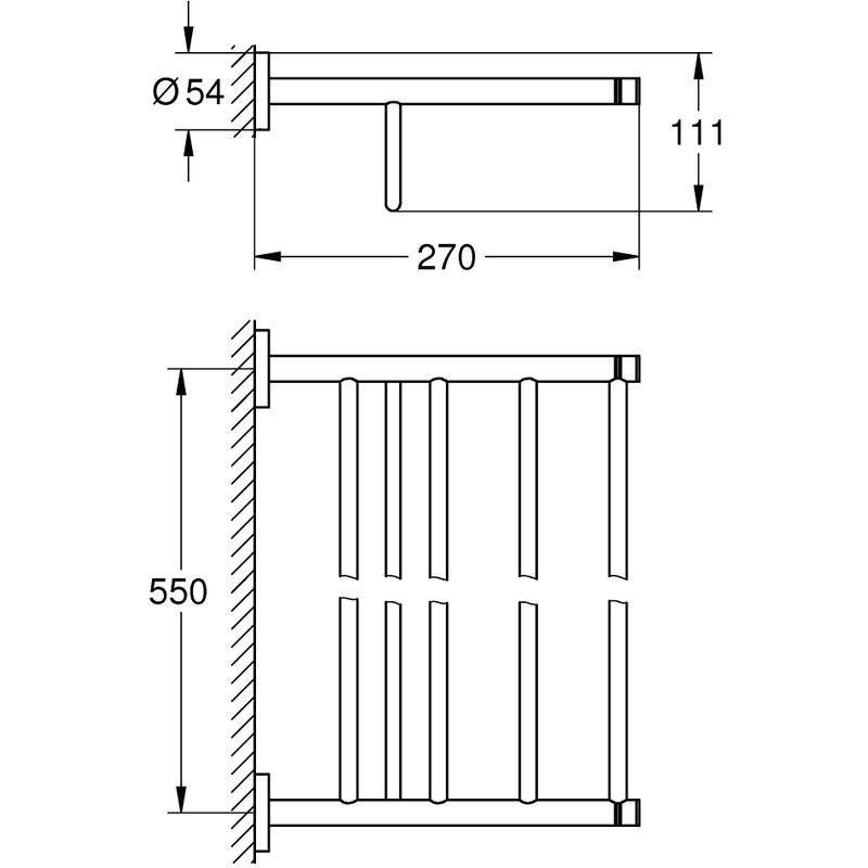 Grohe Essentials Multi Bath Towel Rack 40800 Warm Sunset