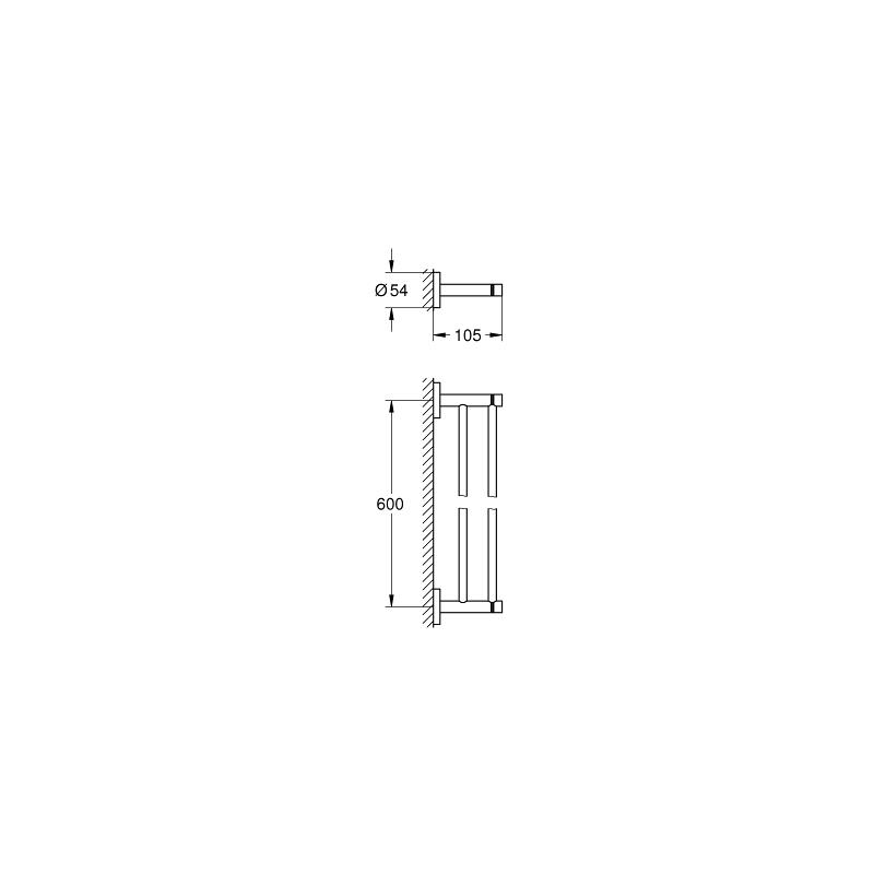Grohe Essentials Double Towel Rail 40802