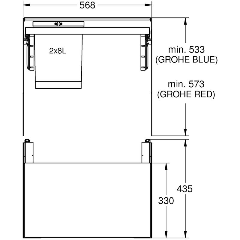 Grohe Blue Waste Separation System 60cm - 8 L / 8 L 40981