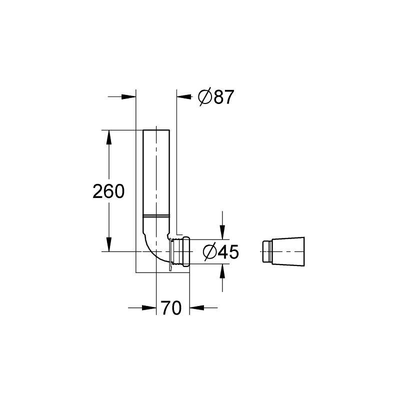 Grohe Flush Pipe Concealed 43908
