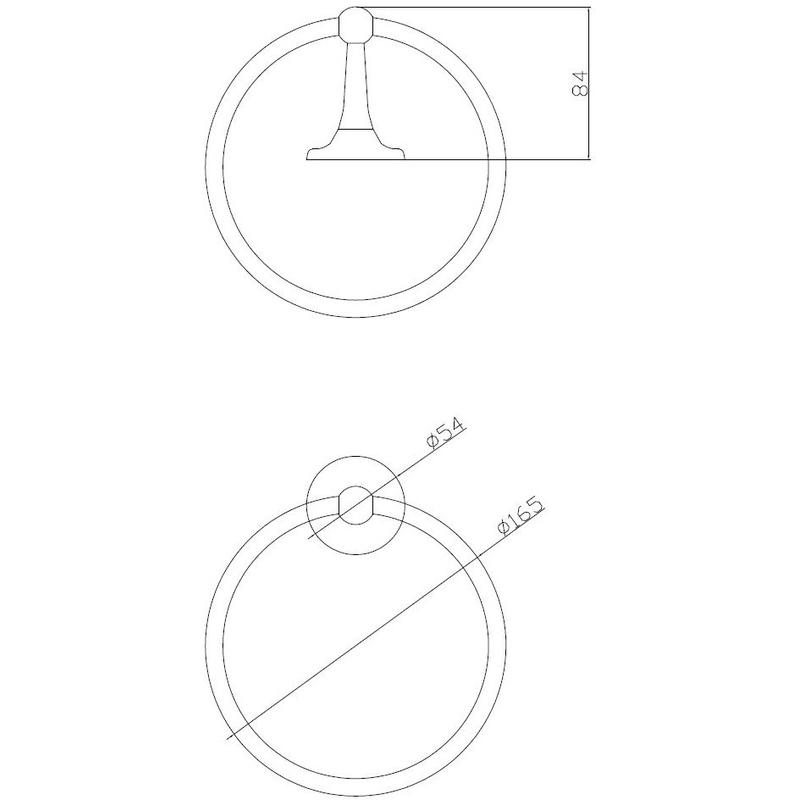 Hudson Reed Towel Ring
