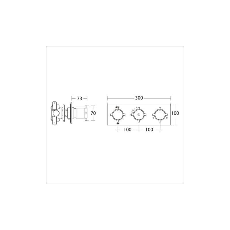 Ideal Standard TT Oposta Built-In 2 Outlet Shower Mixer A5595