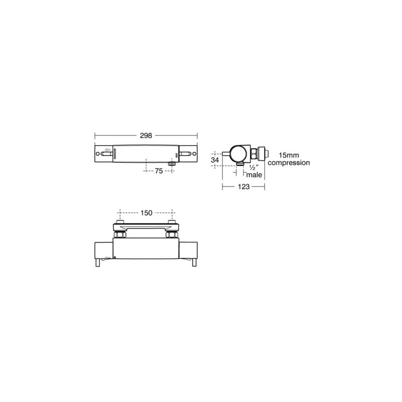 Ideal Standard Alto Ecotherm Exposed Shower Valve A5637
