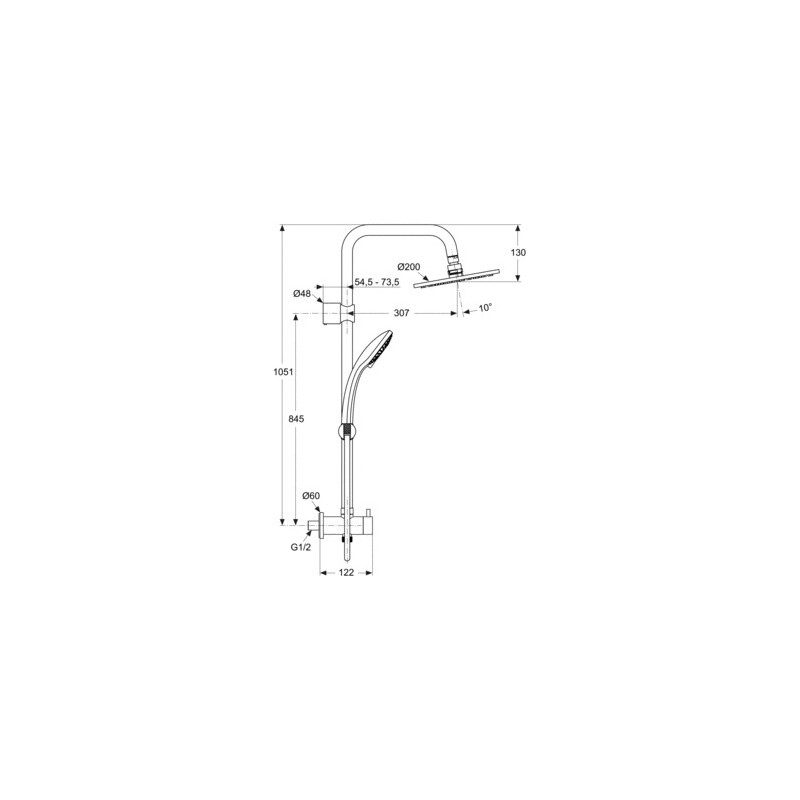 Ideal Standard Idealrain Dual Rainshower M1 A5689