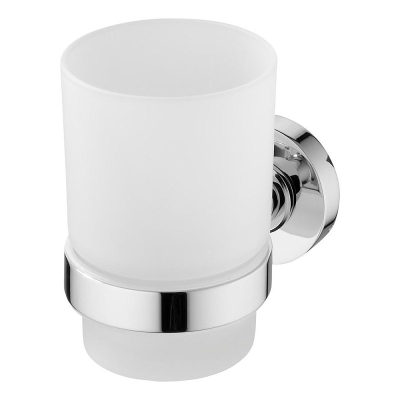 Ideal Standard IOM Frosted Glass Tumbler & Holder A9120