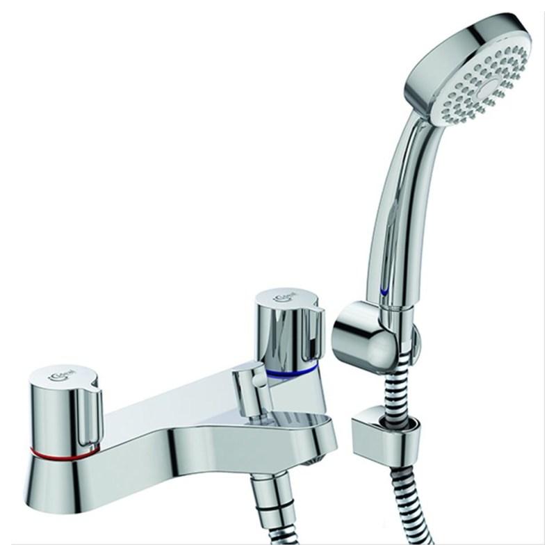 Ideal Standard Alto Bath Shower Mixer Tap with Shower Set