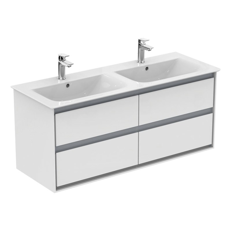 Ideal Standard Concept Air 4 Drawer Unit 1200mm E0822 White/Grey