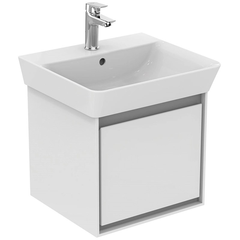 Ideal Standard Concept Air Cube White/Grey 500mm Unit & Basin