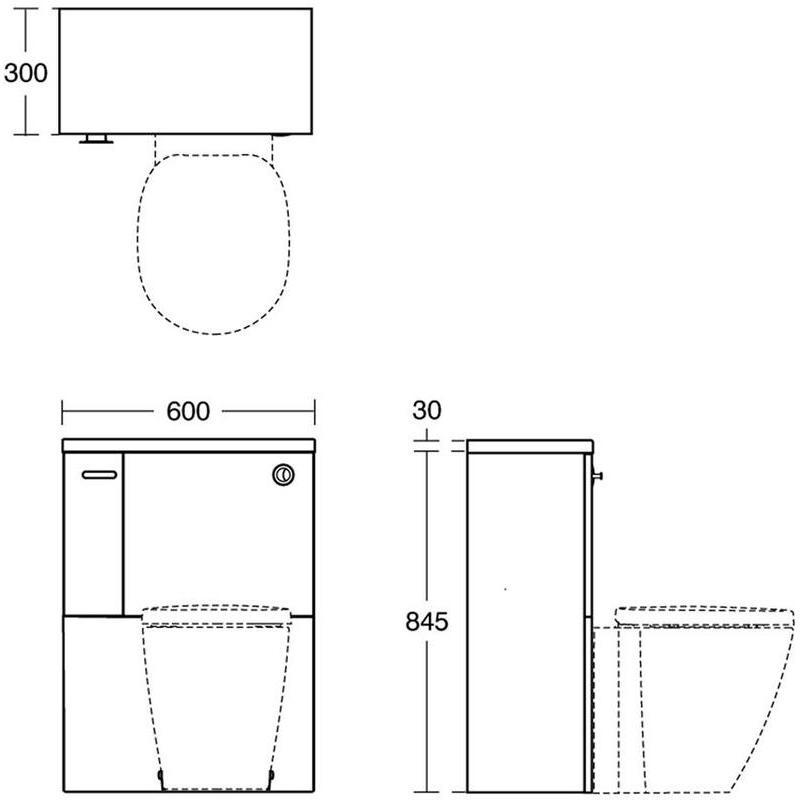 Ideal Standard Concept 600mm Worktop E1444 Elm