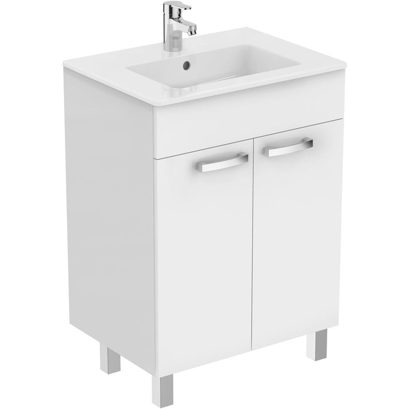 Ideal Standard Tempo 600mm Vanity Unit 2 Door E3239 Gloss White