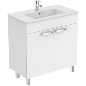 Ideal Standard Tempo 800mm Vanity Unit 2 Door E3241 Gloss White